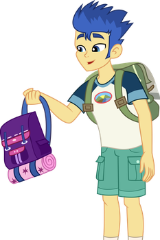 Flash gives Twilight`s  backpack by Anhel032015