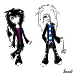 Me and my cute little zombie by 5ande
