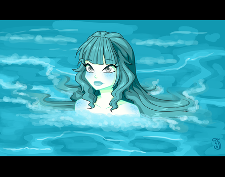 ''Be one with the ocean'' by gloryart-W