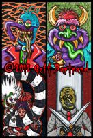 More 4x6 Sketch Card Tributes by Dr-Twistid
