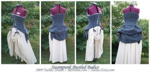 Steampunk Bustled Bodice by taeliac