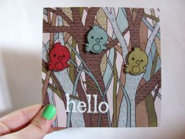 Little Hello Birdie Hello Card by dreamycards