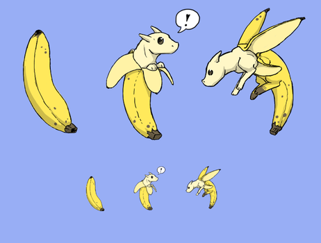 Squiby - banana dragon by jamew85
