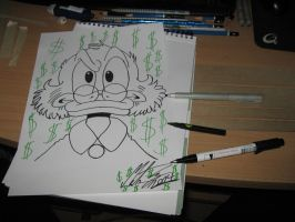 My Uncle Scrooge drawing. 3 by MortenEng21