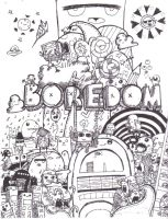 Another Boredom doodle by J-craze