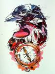 Crow and Compass by FinchFight