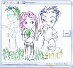 3 Peeps, a chat drawing by seraphinx
