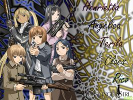 Gunslinger Girls Group Picture by GoldPhoenix0