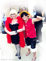 Luffy and Cindry by Spilled-Sunlight