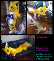 Renamon Fursuit Finish! by Dingz