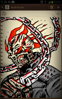 Ghost rider drawn on Samsung Galaxy note by MADrussky