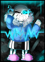 Listen to music with Sans [Speedpaint] by Maspaz04