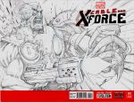 Cable and X-Force by Sandoval-Art