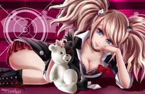 [Comission] Junko Enoshima - DR by Cotton-Monster