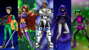 Teen Titans by CandySkitty