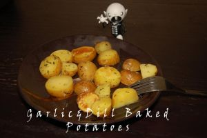 Garlic and Dill Grilled potatoes by WhatsToEast