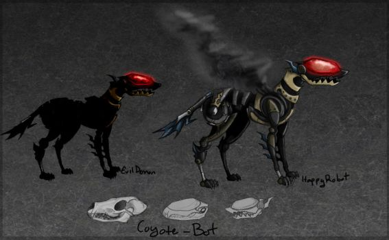 Coyote-Bot Design by katxicon