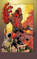 Hellboy Colored by V3dd3rMan