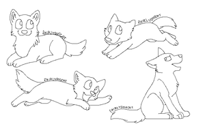 free pup or dog lineart by CaptainDashund