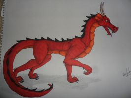 red dragon (markers) by KezXxX