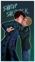 Shut Up Sherlock by demicoeur