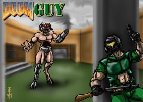 Doomguy by cheddarpaladin