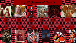 UPDATED: Top 12 Queens of Hearts by JJHatter