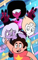 Steven and friends by luna77899