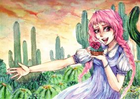 world of cacti by artist-Kat