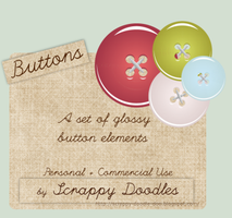 Glossy Button Elements by zememz