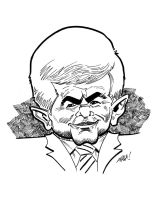 Newt Gingrich by DavidAyala