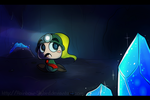 Exploring Crystal Caves by Rainbow-Skybird