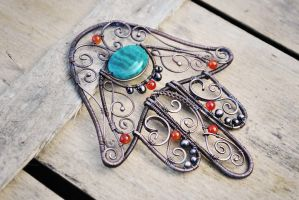 Hamsa Palm by twistedjewelry