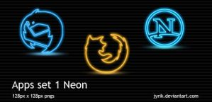 Apps set 1 Neon by JyriK