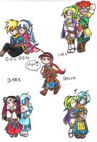 Chibi shippings of GSDD by SailorLi