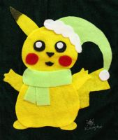 Pikachu Stocking (Winter Outfit 4) by MeMiMouse