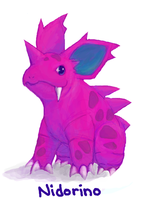 PKMN: nidorino by red-bean-bun