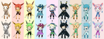 :ADOP: Eevee evolutions OPEN by EscarlattaNoAdops
