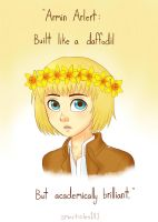 A Coconut Wearing Some Daffodils by smarticles101