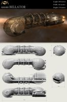 Bellator Amarr battleship by Zelfit