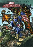 Captain America MM3 Sketchcard by DKuang