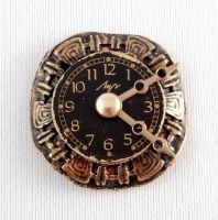 Clock magnet by bahgee