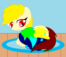 Loz and Bell resting by lozix