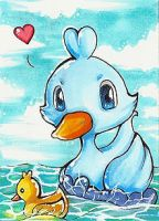 Ducklett vs. Ducky ACEO
