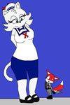 It's The Stay Puft Marshmallow Cat by mewmewspike