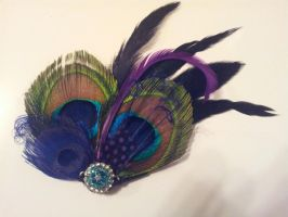 Feather Hair Clip Fascinator #1 by AbsolutelyFascinated