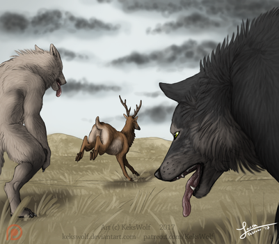 Fullmoon Card 'Unfortunate Hunt' - [Game Project] by KeksWolf