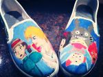 custom studio ghibli shoes by ForeverOtaku