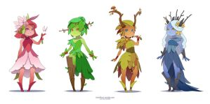 Dryad of the seasons by Koni-art