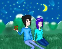 Gift-Sasuke and Hinata by Retarded-Rooster